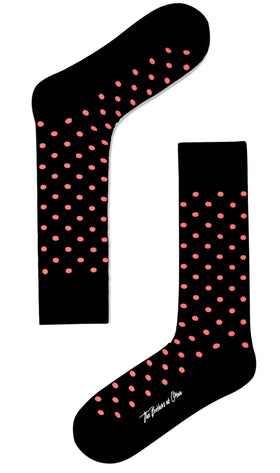 Bond Black Peach Dot Socks