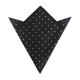 Bond Black Polka Dots Pocket Square