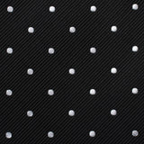Bond Black Polka Dots Skinny Tie Fabric