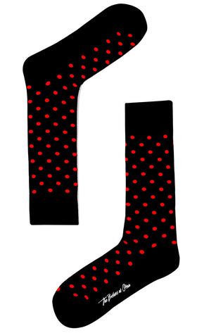 Bond Black Red Dot Socks