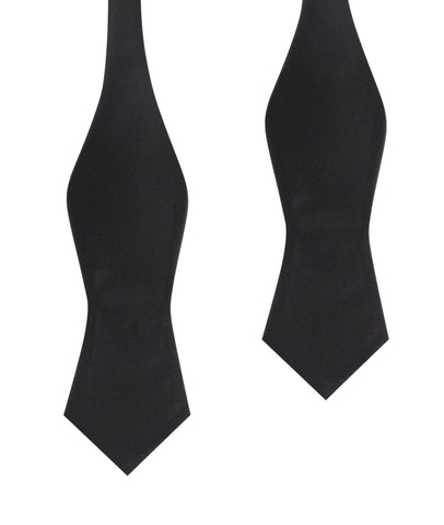 Bond Black Self Tie Diamond Tip Bow Tie