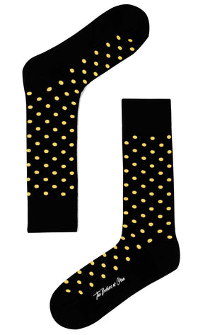 Bond Black Yellow Dot Socks