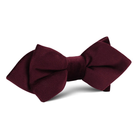 Bond Burgundy Diamond Velvet Bow Tie