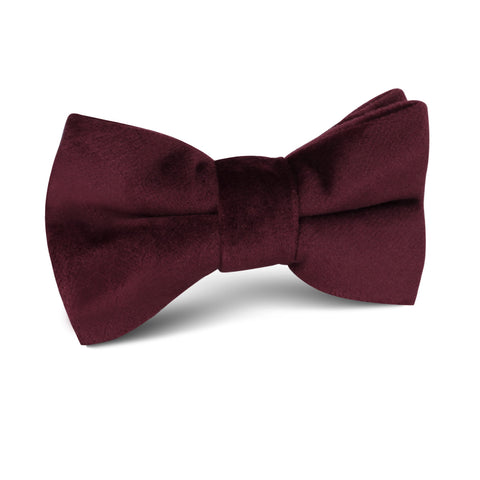 Bond Burgundy Velvet Kids Bow Tie