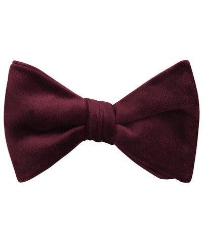 Bond Burgundy Velvet Self Bow Tie
