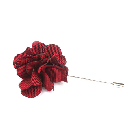 Bordeaux Maroon Lapel Flower