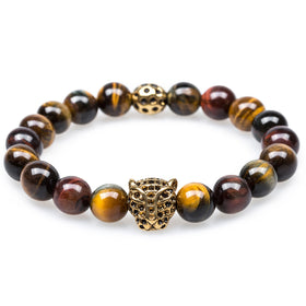 Borneo Tiger's Eye Panther Bracelet