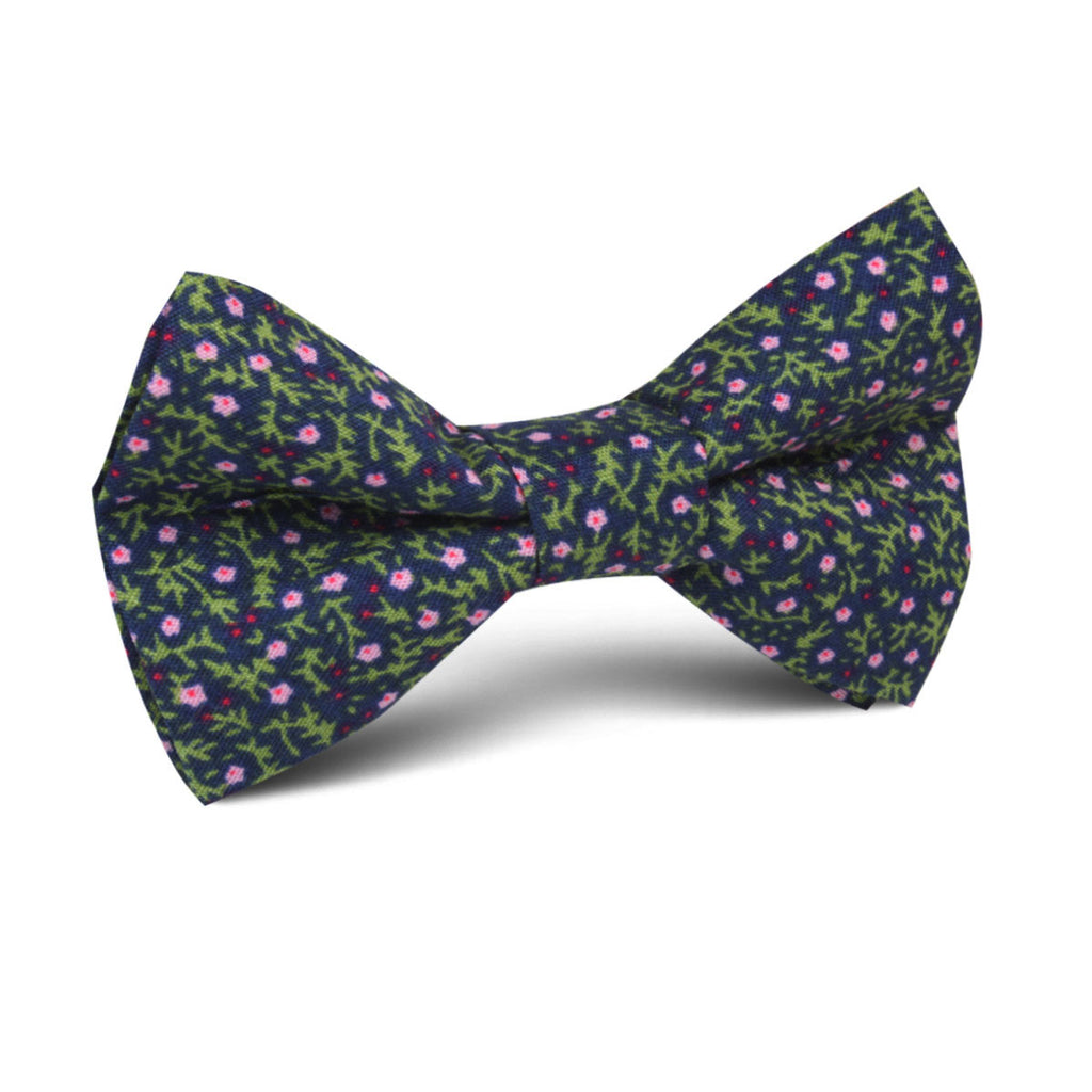 Boston Floral Garden Kids Bow Tie