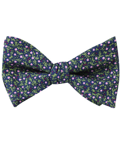 Boston Floral Garden Self Bow Tie