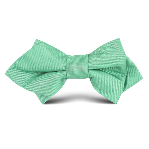Brazilian Green Kids Diamond Bow Tie