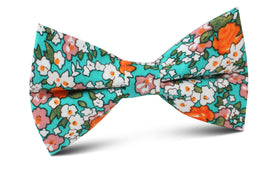 British Virgin Island Floral Bow Tie