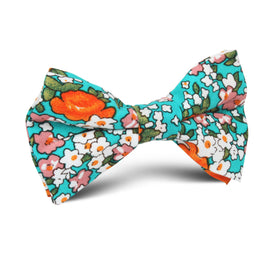 British Virgin Island Floral Kids Bow Tie