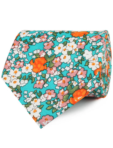 British Virgin Island Floral Necktie