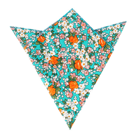 British Virgin Island Floral Pocket Square