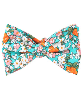 British Virgin Island Floral Self Bow Tie