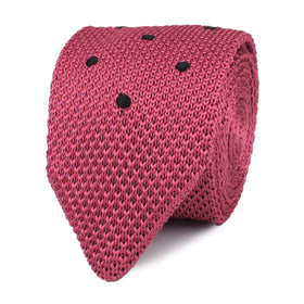 Brizo Pink Polka Dot Knitted Tie