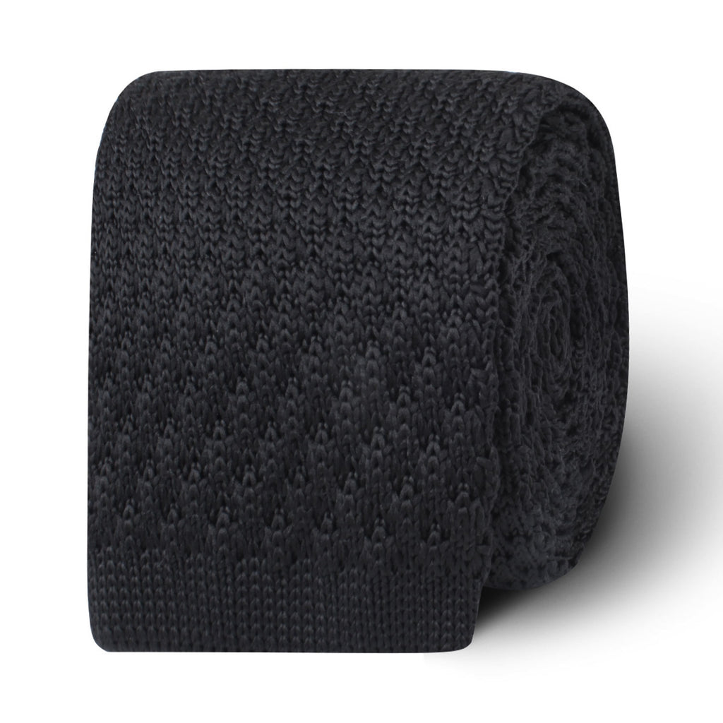Brooklyn Black Knitted Tie