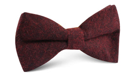 Brooklyn Burnt Red Bow Tie