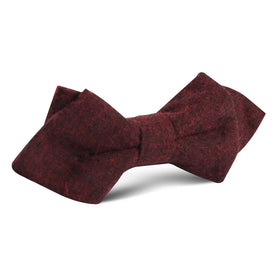 Brooklyn Burnt Red Diamond Bow Tie