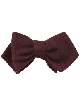 Brooklyn Burnt Red Diamond Self Bow Tie