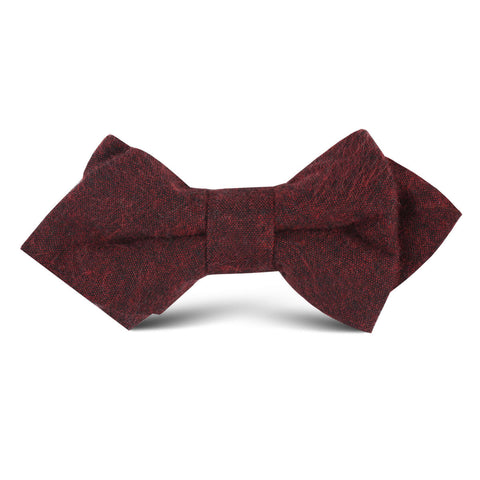 Brooklyn Burnt Red Kids Diamond Bow Tie