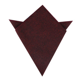 Brooklyn Burnt Red Pocket Square