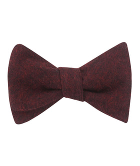 Brooklyn Burnt Red Self Bow Tie