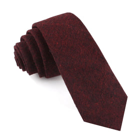 Brooklyn Burnt Red Skinny Tie