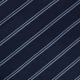 Brooklyn Navy Blue Striped Bow Tie