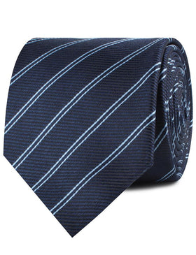 Brooklyn Navy Blue Striped Necktie