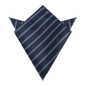 Brooklyn Navy Blue Striped Pocket Square