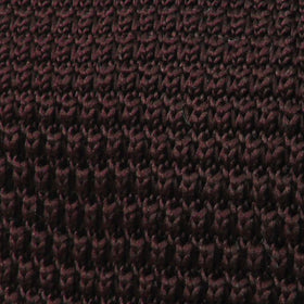 Brown Pointed Knitted Tie