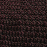 Brown Pointed Knitted Tie Fabric