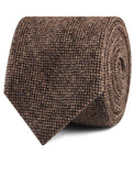 Brown Caramel English Wool Necktie