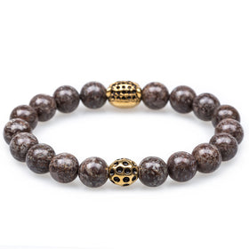 Brown Charcoal Rutile Amazonian Panther Bracelet