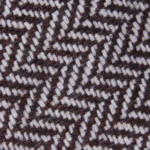 Brown Chevron Wool Diamond Bow Tie