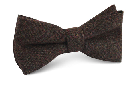 Brown Columbia Wool Bow Tie