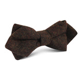 Brown Columbia Wool Diamond Bow Tie