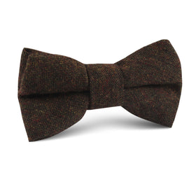 Brown Columbia Wool Kids Bow Tie