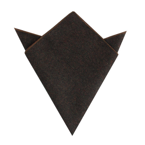 Brown Columbia Wool Pocket Square