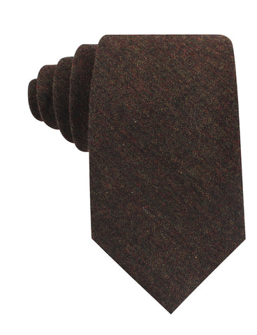 Brown Columbia Wool Tie
