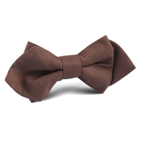 Brown Cotton Diamond Bow Tie