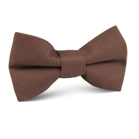 Brown Cotton Kids Bow Tie