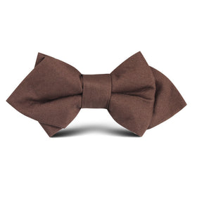 Brown Cotton Kids Diamond Bow Tie