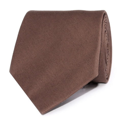 Brown Cotton Necktie