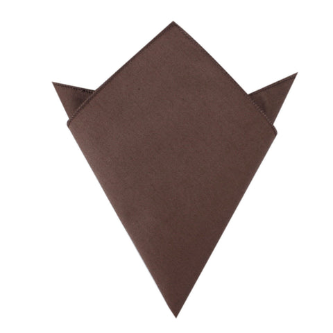 Brown Cotton Pocket Square