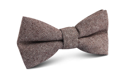Brown Gingerbread Linen Bow Tie