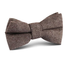 Brown Gingerbread Linen Kids Bow Tie