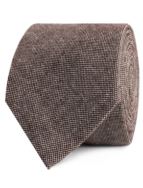 Brown Gingerbread Linen Tie