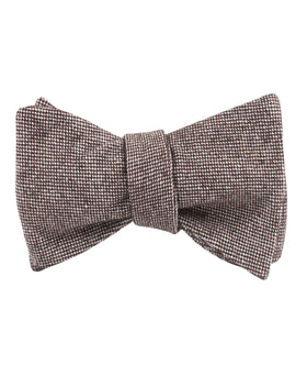 Brown Gingerbread Linen Self Bow Tie